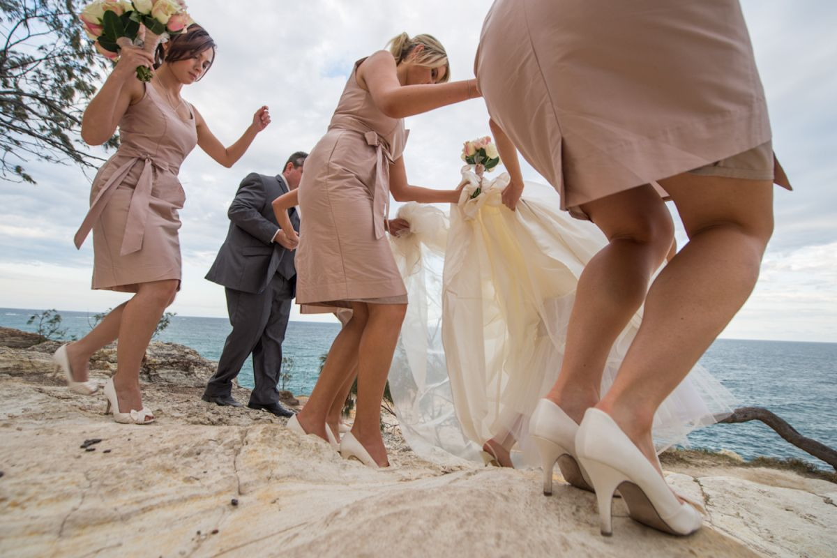 Gorge bridal party photos