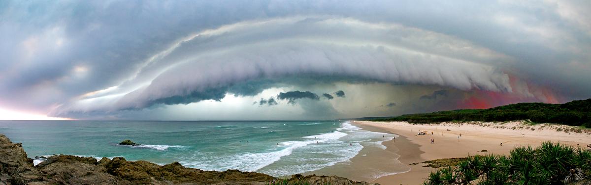 storm over Main Beach