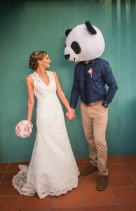 panda marries bride