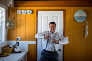 groom excited to be getting married