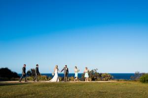 bridal couple on gorge walk
