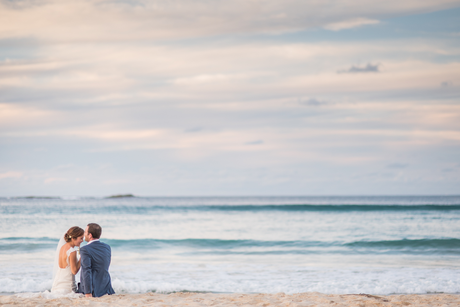 north stradbroke island beach bride