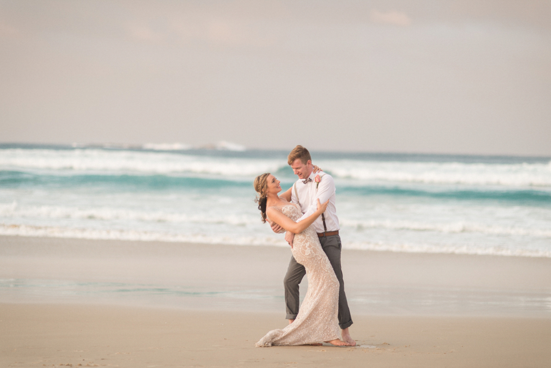 practice first dance on the beach