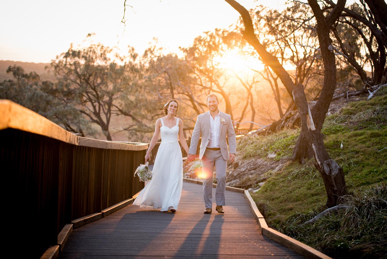 wedding light through the gorge walk