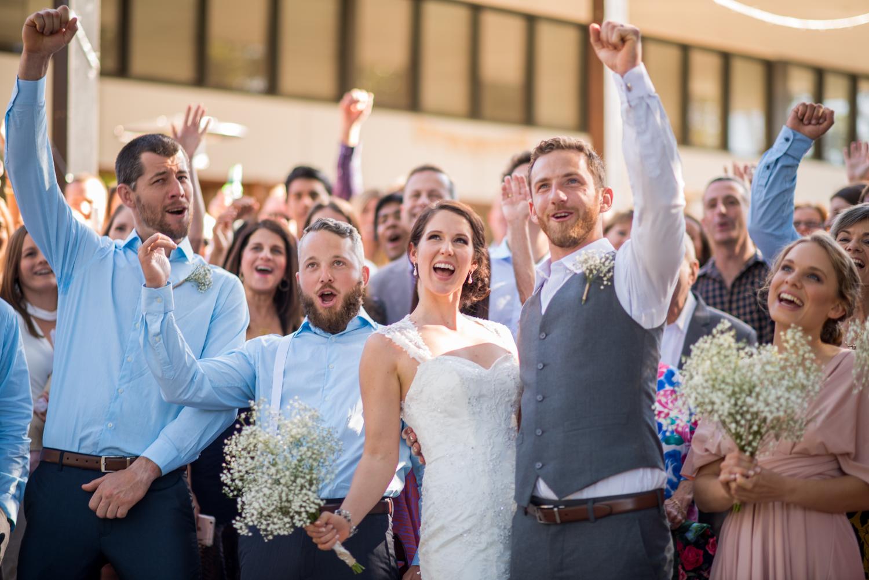 wedding group celebration