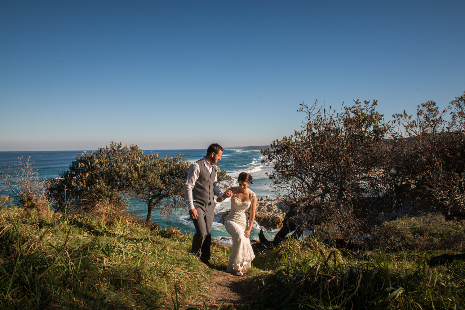 perfect view on a perfect Straddie wedding day