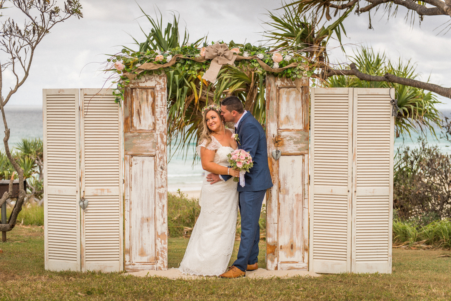 wedding ceremony styling with old doors