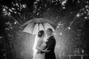Wedding on a rainy day