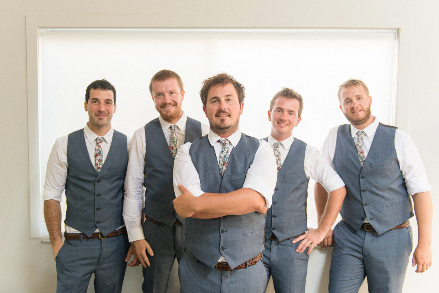 Groomsmen get ready at Allure Resort, Straddie