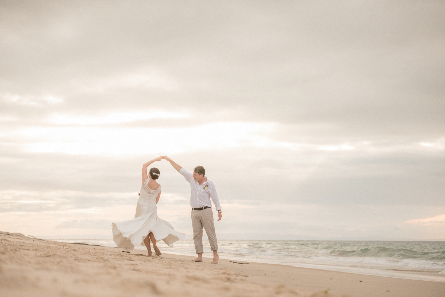 dancing on the beach on your wedding day