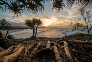 Flinders Beach sunset North Stradbroke Island