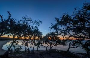 Flinders Beach sunset North Stradbroke Island