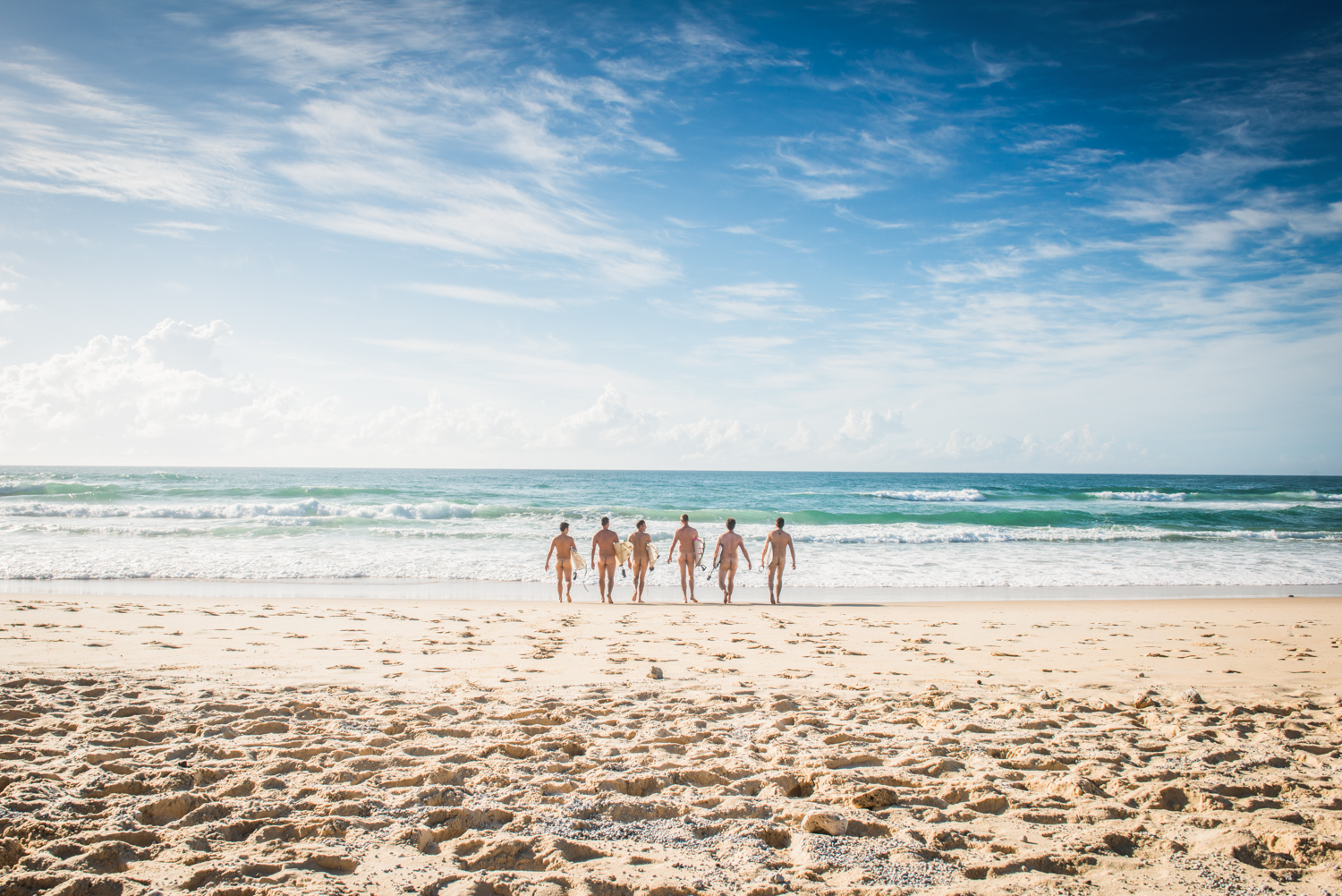 wedding day nude surf noosa
