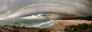 North Stradbroke Island bushfire storm | Stradbroke Island Photography