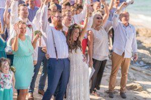 Nicole and Sam   graphic designer wedding   Stradbroke Island