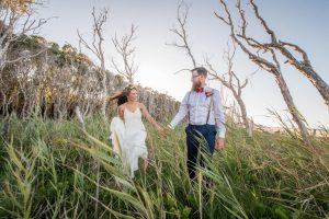Nicole and Sam | graphic designer wedding | Stradbroke Island