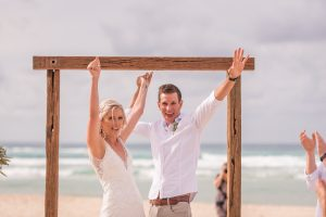 Emma and Chris | stradbroke island destination wedding | Point Lookout community hall