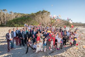 Andrea and Duncan   Straddie wedding  Home Beach