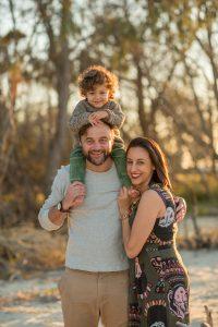 Grantley family portrait shoot on North Stradbroke Island