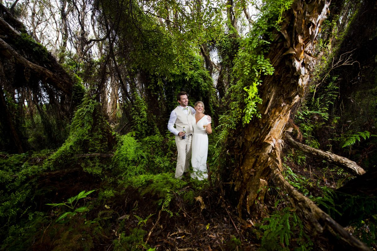 ang and stu get married on straddie