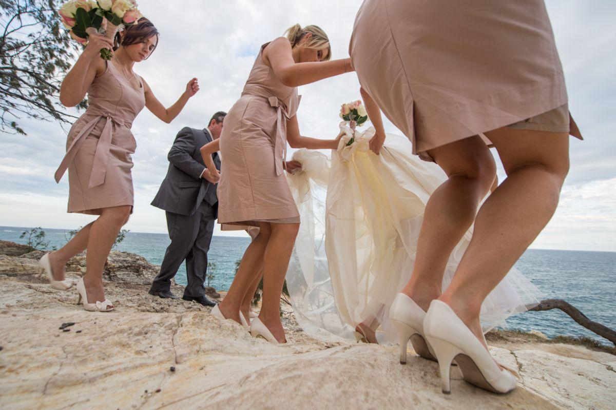 Gorge bridal party photos