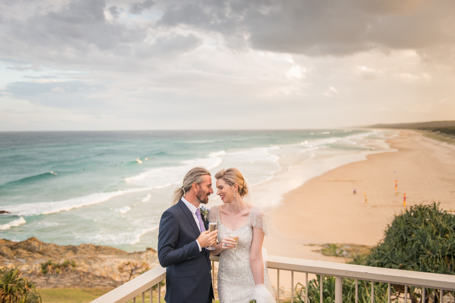 Afternoon light, what a delight for this Stradbroke wedding