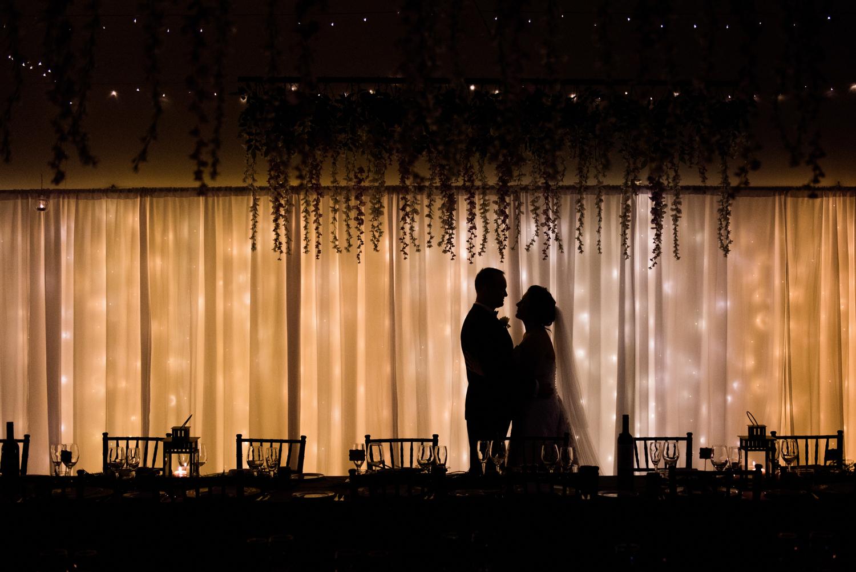 bride and groom quiet moment
