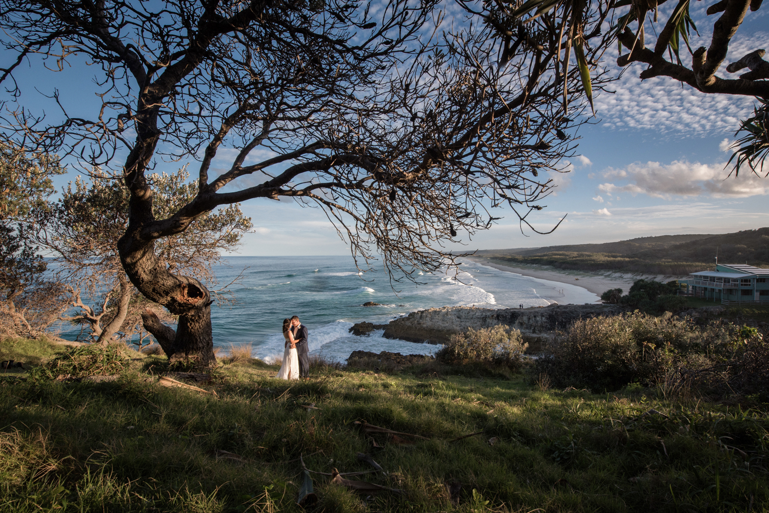 wedding on Straddie with a view
