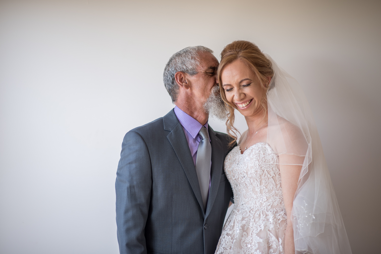 beautiful bride with her dad