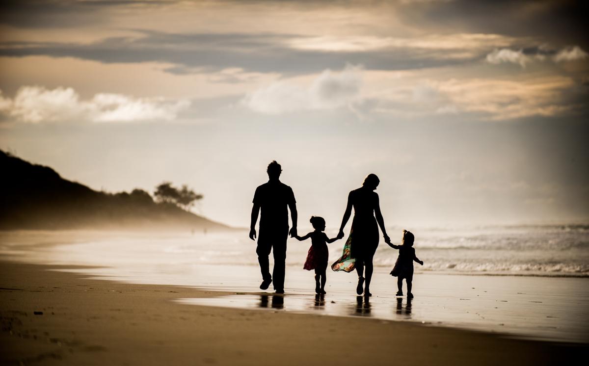Stradbroke Island family beach hiking