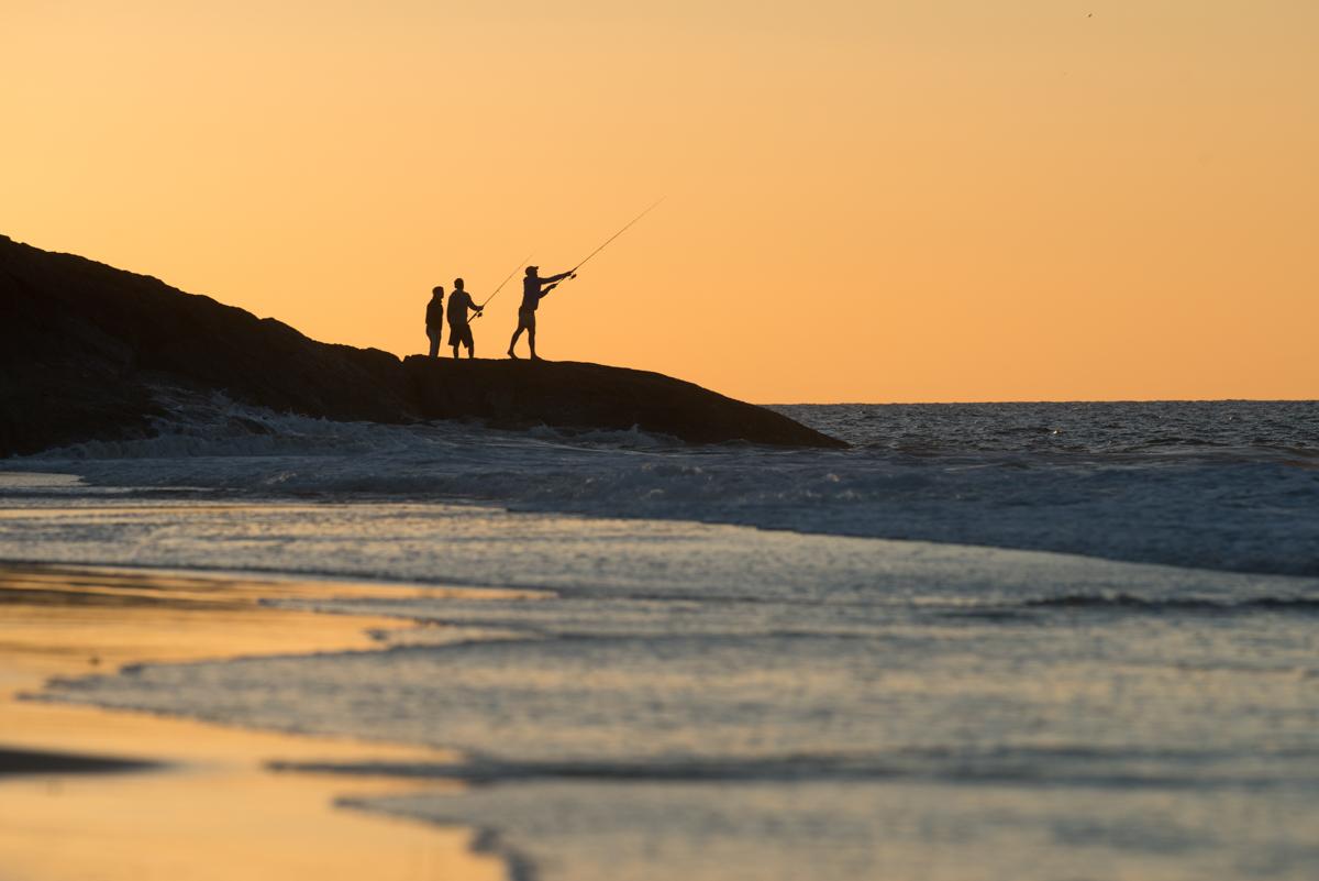 Stradbroke Island fishing off Adder Rock