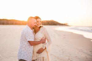 Lisa and Robbie beach pregnancy portraits