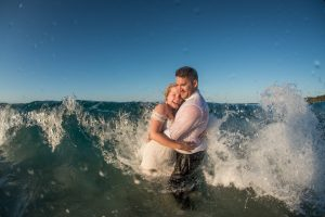 Haylee and Brycen | destination wedding |straddie | wedding photographer | trash the dress