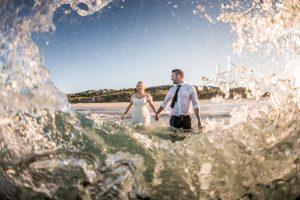 Haylee and Brycen | destination wedding |straddie | wedding photographer | trash the dress