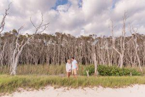 Peta and Chris | North Stradbroke Island maternity | island portrait