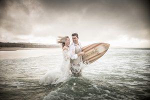 Emma and Anthony | rock the frock |North Stradbroke Island wedding photographer | destination wedding | stradbrokeislandphotography.com