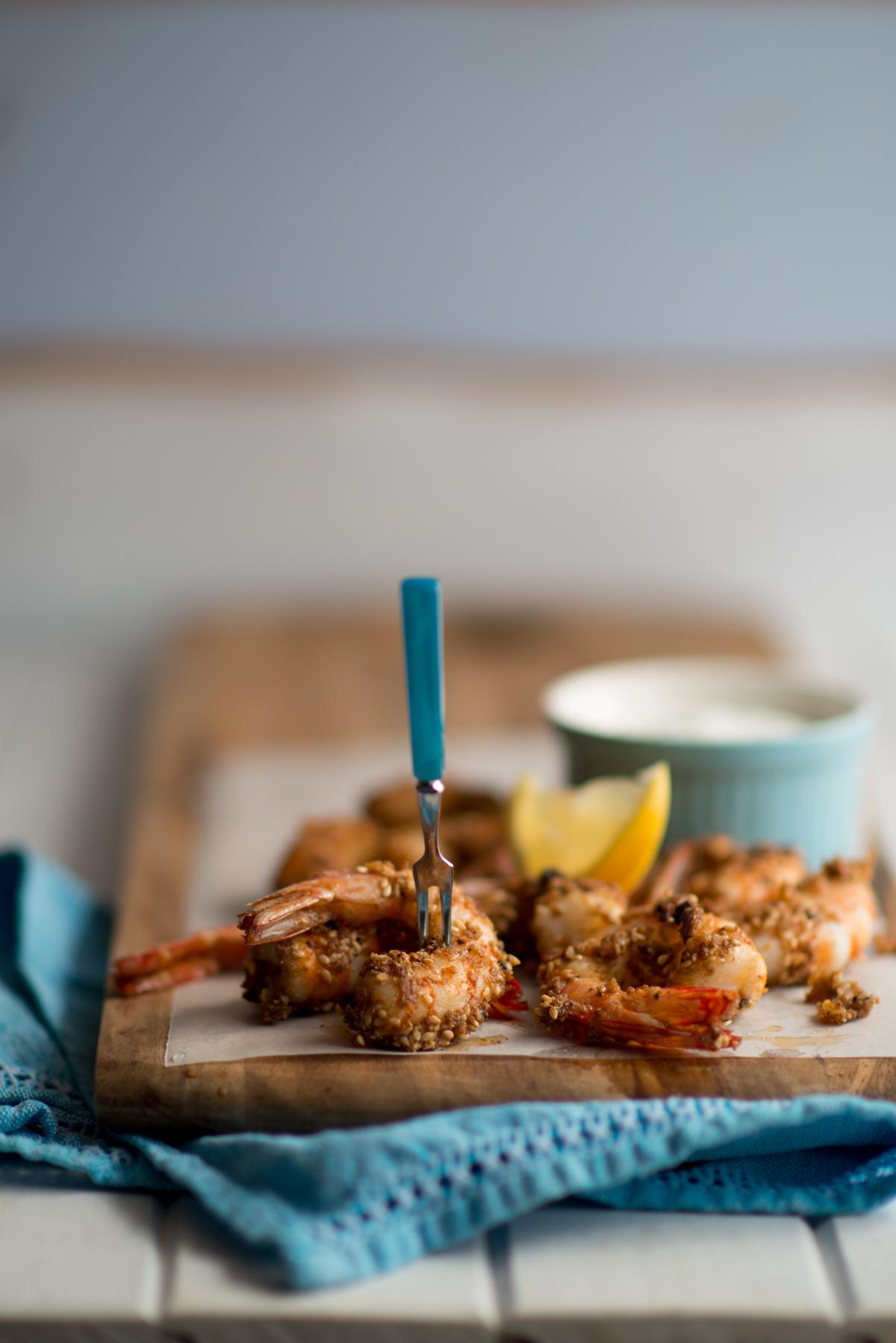 Macadamia dukkah prawns | Straddie | Eat, Drink and Be Straddie | stradbrokeislandphotography.com