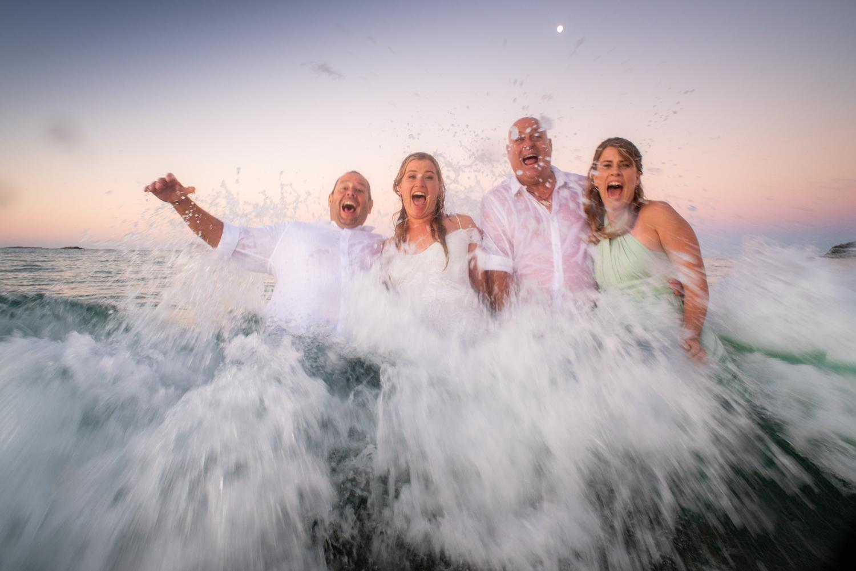 Tash and Grant | Stradbroke Island intimate wedding | COVID wedding | Cylinder Headland ceremony