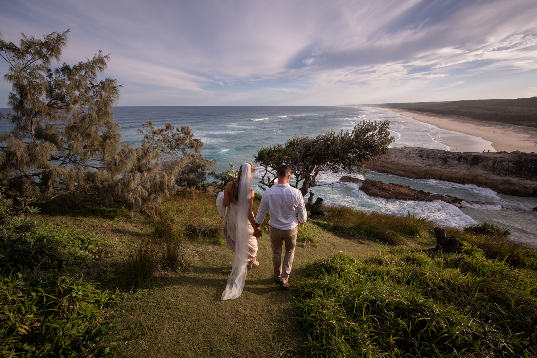 Straddie wedding | Hanna + Ash | Home Beach Intimate ceremony